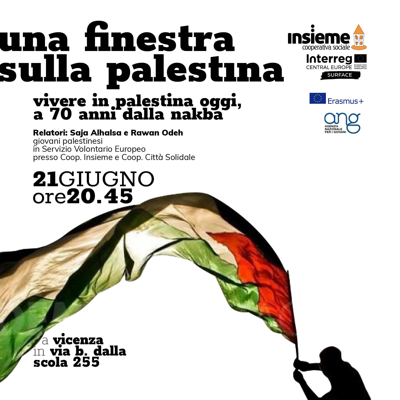 Una finestra sulla Palestina | giovedì 21 giugno 2018